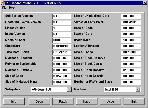 Windows 7 PE Header Patcher 1.1 full